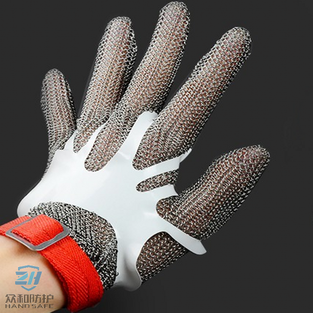 Ring Mesh Gloves Tensioner Made From Hygienic and Elastic Polymeric Material