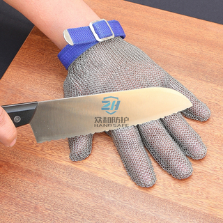 Five Fingers Stainless Steel Ring Mesh Safety Glove for Cut Resistant
