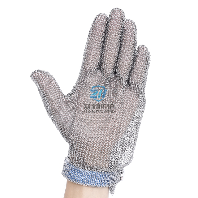 Welded Ring Mesh Stainless Steel Chainmail Meat Cutter Glove