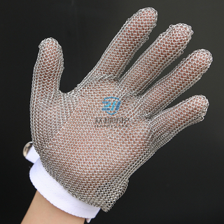 Stainless Steel Cut Resistant Level 5 Chainmail Glove