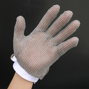 5101-Five Finger Wrist Glove With Textile Strap